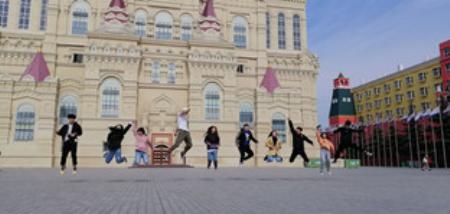 郑州理工职业学院社团联合会曳步舞社参加高校联盟曳步舞大赛