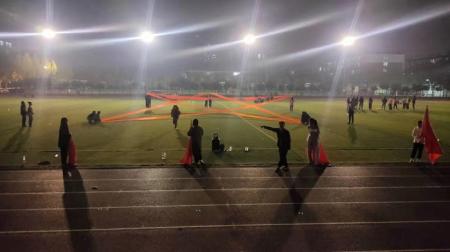 学前教育学院为校第十届运动会开幕式排练节目